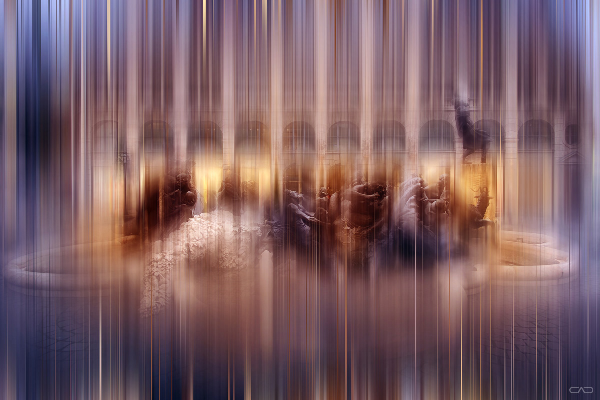 Kunstdruck vom Nürnberger Ehebrunnen